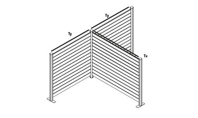 EASYfence T-opstelling
